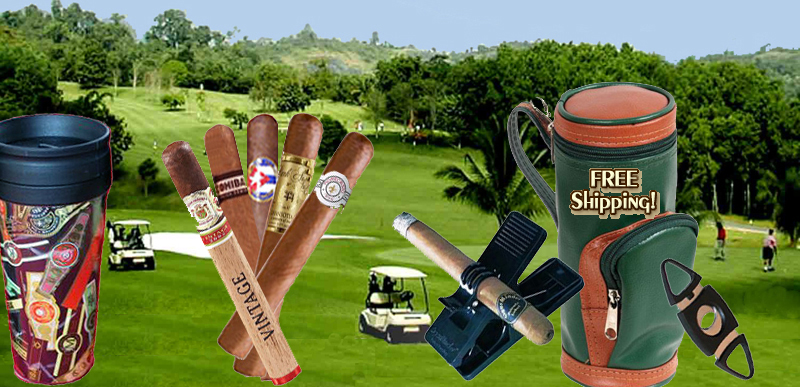 Golf and Great Cigars...a Natural Combination..Free Shipping